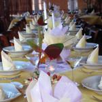 Interiér Restaurace na Vyhlídce - svatební hostiny